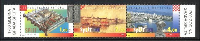 1995 - CROAZIA - CITTA' DI SPLIT 3v. - NUOVI - LOTTO/32649