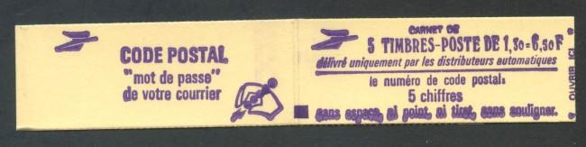 1979 - FRANCIA - 1,30 FR. SABINE LIBRETTO DI 5 FRANCOBOLLI NUOVI - LOTTO/30627