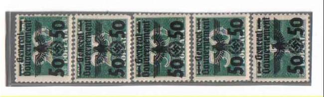 1940 - POLONIA OCCUPAZ.TEDESCA - LOTTO/3815 - SEGNATASSE SOPRAST