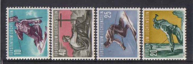 1955 - LOTTO/3803 - LIECHTENSTEIN - SPORT II° SERIE