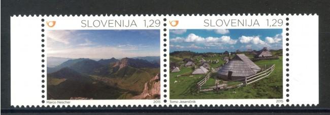 2015- SLOVENIA - LE ALPI  2v. - NUOVI - LOTTO/34614