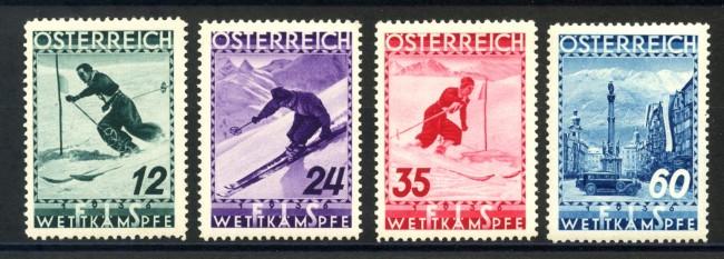 1936 - AUSTRIA - CAMPIONATI DI SCI 4v. NUOVI - LOTTO/34044