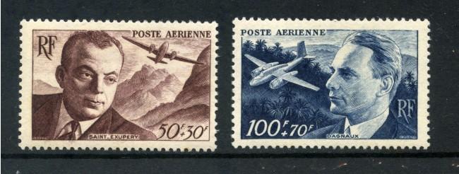 1948 - FRANCIA - POSTA AEREA - ASSISTENZA FRANCESE 2v. - LINGUELLATI - LOTTO/15434