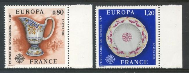 1976 - FRANCIA - EUROPA 2v. - NUOVI - LOTTO/30089