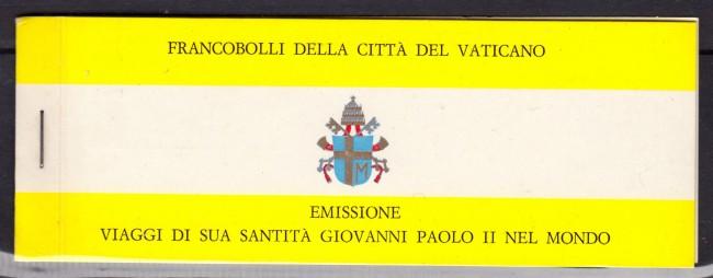 1982 - VATICANO - VIAGGI PAPA  LIBRETTO USATO FDC - LOTTO/LBF2993