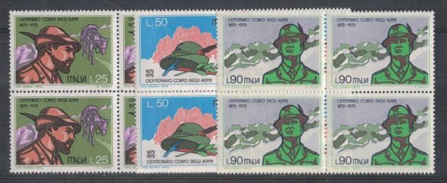 1972 - LOTTO/6558Q - REPUBBLICA - CORPO ALPINI QUARTINE