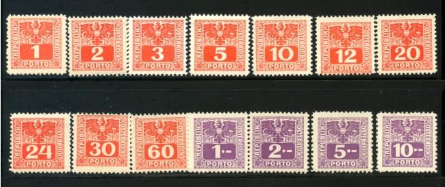 1945 - AUSTRIA - SEGNATASSE 14v. NUOVI - LOTTO/34054