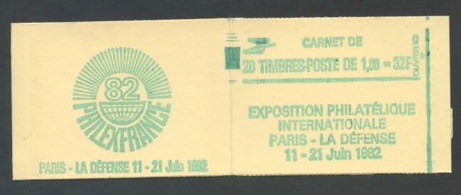 1981 - FRANCIA  - LIBRETTO PHILEXFRANCE VERDE  DA 20 FRANCOBOLLI NUOVI - LOTTO/30629