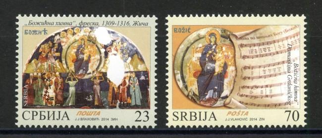 2014 - SERBIA REPUBBLICA - NATALE 2v. - NUOVI - LOTTO/35253