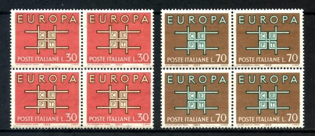 1963 - LOTTO/6418Q - REPUBBLICA - EUROPA 2v. - QUARTINE NUOVI