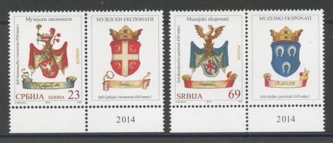 2014 - SERBIA REPUBBLICA - STEMMI DI FAMIGLIE 2v. - NUOVI - LOTTO/35251