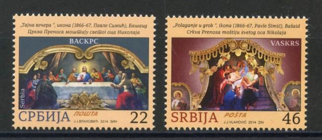 2014 - SERBIA REPUBBLICA - PASQUA 2v. - NUOVI - LOTTO/35243