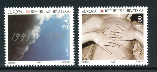 1995 - CROAZIA - EUROPA 2v. - NUOVO - LOTTO/32648