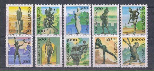 1987 - LOTTO/8077 - SAN MARINO - SCULTURE 10v. - NUOVI