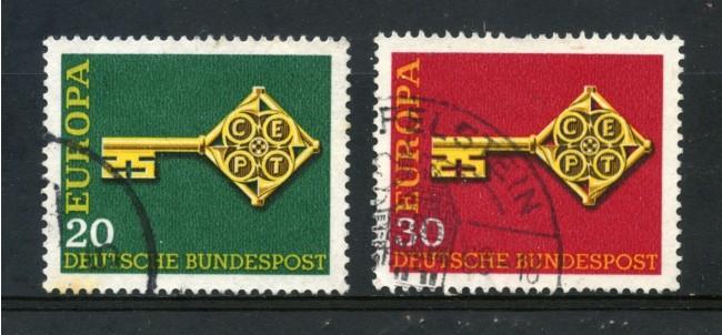 1968 - GERMANIA FEDERALE - EUROPA 2v. - USATI - LOTTO/30943U