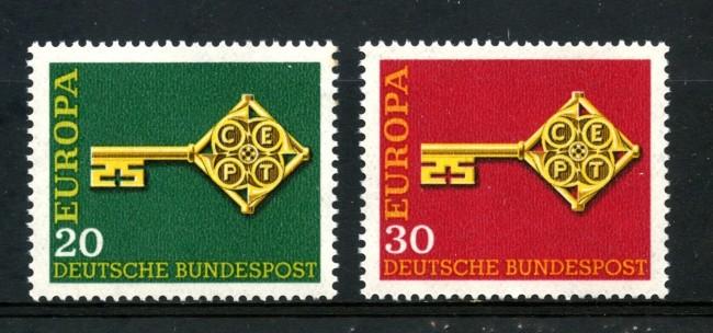 1968 - GERMANIA FEDERALE - EUROPA 2v. - NUOVI - LOTTO/30943