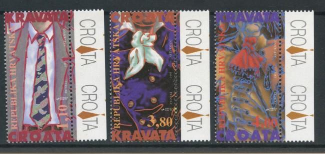 1995 - CROAZIA - CRAVATTE 3v. - NUOVI - LOTTO/32642