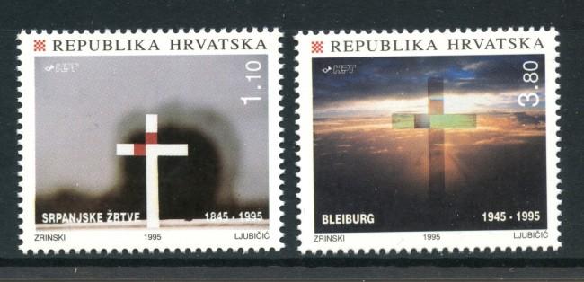 1995 - CROAZIA - VITTIME DI JUILLET  2v. - NUOVO - LOTTO/32650