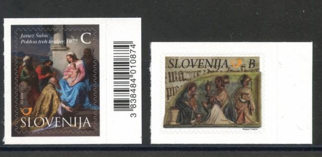 2015 - SLOVENIA - NATALE 2v. - NUOVI ADESIVI - LOTTO/34616
