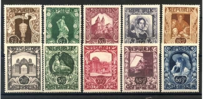 1947 - AUSTRIA - PRO ARTISTI 10 v. NUOVI - LOTTO/34061