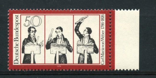 1976 - LOTTO/18977 - GERMANIA FEDERALE - 50p.VON WEBER - NUOVO