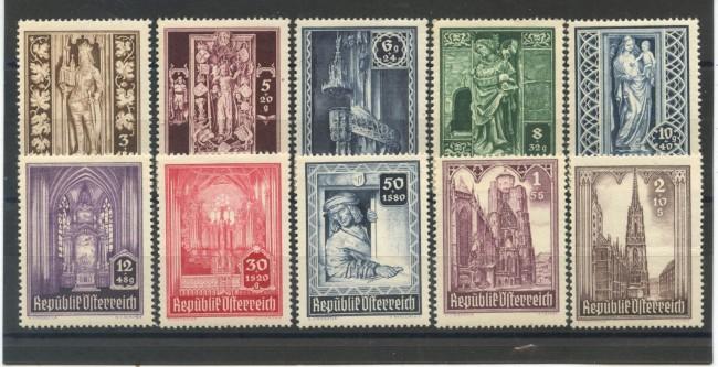 1946 - AUSTRIA - CATTEDRALE DI SANTO STEFANO 10 v. NUOVI - LOTTO/34058