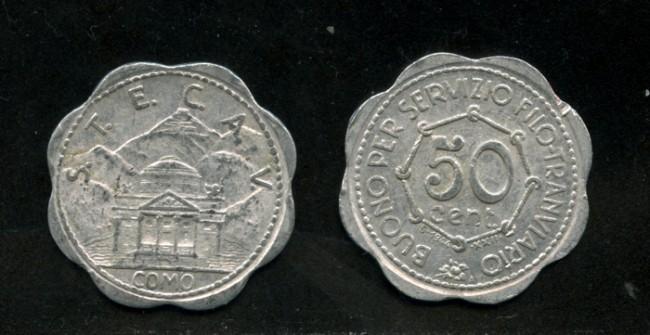 1944 - LOTTO/M14742 - ITALIA - COMO  50 CENT. BUONO SERVIZIO FILO-TRAMVIARIO