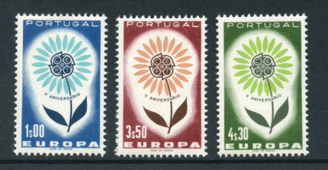1964 - LOTTO/19713 - PORTOGALLO - EUROPA 3v. - NUOVI