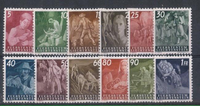 1951 - LOTTO/5582 - LIECHTENSTEIN - VITA CONTADINA 12v.