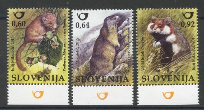 2015 - SLOVENIA - FAUNA RODITORI  3v. - NUOVI - LOTTO/34611