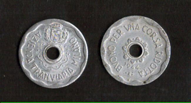 1944 - LOTTO/MGET3 - MILANO BUONO PER CORSA RIDOTTA