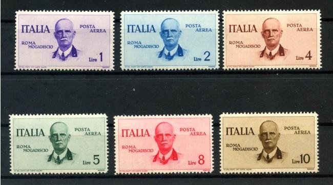 1934 - REGNO - POSTA AEREA - VOLO ROMA-MOGADISCIO 6v. NUOVI - LOTTO/32653
