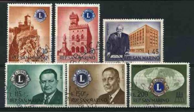 1960 - LOTTO/12004 - SAN MARINO - FONDAZIONE LION'S CLUB 6v. - USATI