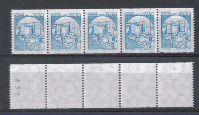1988 - LOTTO/6887BS - REPUBBLICA -  500 L. CASTELLO x DISTRIB. S