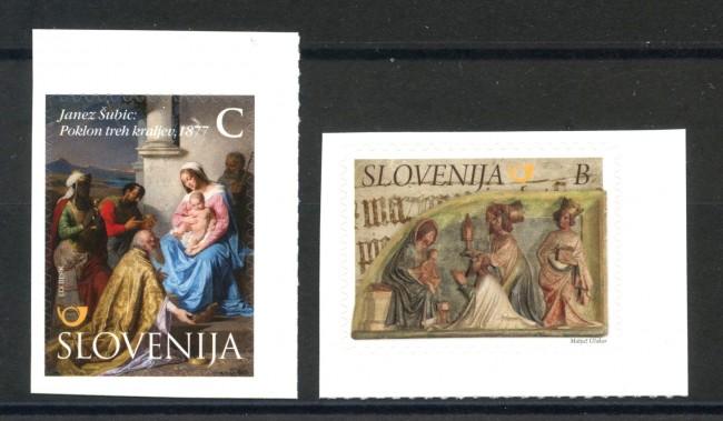 2015 - SLOVENIA - NATALE 2v. - NUOVI ADESIVI - LOTTO/34617