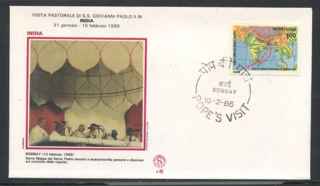 1986 - INDIA - BOMBAY - VISITA DI PAPA GIOVANNI PAOLO II°IN INDIA - LOTTO/31159