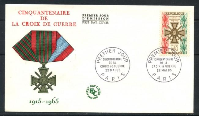 1965 - FRANCIA - CINQUANTENARIO CROCE DI GUERRA - BUSTA FDC - LOTTO/25210