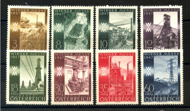 1947 - AUSTRIA - FIERA DI PRIMAVERA 8 v. NUOVI - LOTTO/34059