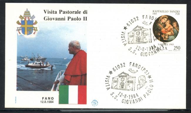 1984 - ITALIA - FANO (PS) - VISITA DI S.S. GIOVANNI PAOLO II° - LOTTO/31168
