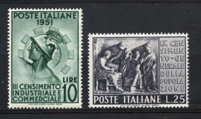 1951 - REPUBBLICA - CENSIMENTO 2v. - NUOVI - LOTTO/30329
