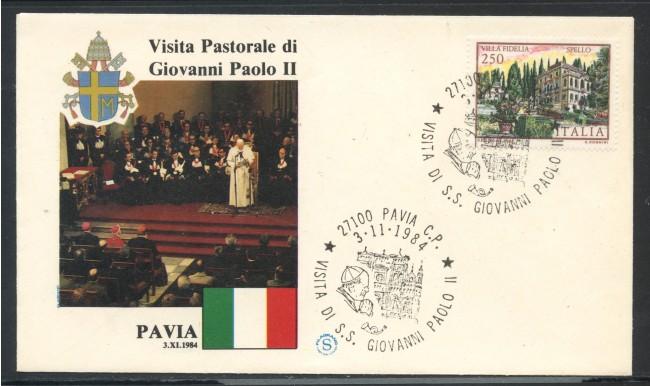 1984 - ITALIA - PAVIA - VISITA DI S.S. GIOVANNI PAOLO II° - LOTTO/31167