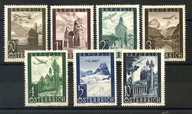 1947 - AUSTRIA - POSTA AEREA 7 v. NUOVI - LOTTO/34062