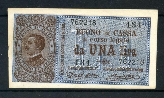 1914 - REGNO - BUONO DI CASSA 1 LIRA VITTORIO EMANUELE III° - LOTTO/30516
