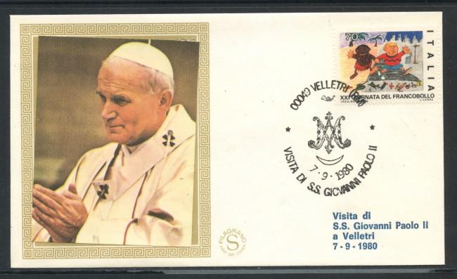 1980 - ITALIA - VELLETRI (RM) - VISITA DI S.S. GIOVANNI PAOLO II° - LOTTO/31174