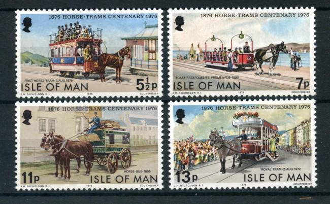 1976 - LOTTO/22904 - ISOLA DI MAN - TRAMVIE 4v. - NUOVI