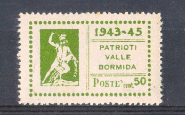 VALLEBORMIDA - 1945 - LOTTO/799B - 50c. OLIVA TESEO