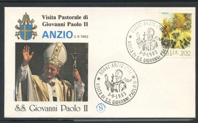 1983 - ITALIA - ANZIO (RM) - VISITA DI S.S. GIOVANNI PAOLO II° - LOTTO/31173