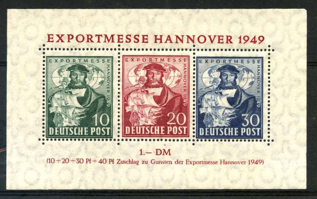 1949 -  GERMANIA BIZONA - FIERA DI HANNOVER FOGLIETTO - TRACCIA LINGUELLA - LOTTO/3641