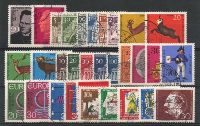 1966 - LOTTO/18860 - GERMANIA FEDERALE - ANNATA COMPLETA 31v. - USATI