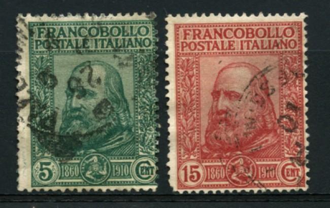 1910 - LOTTO/12748 - REGNO   - GARIBALDI 2v. - USATI